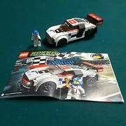 2016 Lego Speed Champions Audi R8 Lms Ultra 75873 Complete W/manual And Minifig