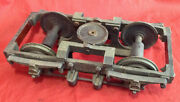 Vintage 4.5 Model Railroad Brass 2 Axle Truck With Leaf Spring Suspension