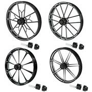 30and039and039 Front Wheel Rim Wheel Hub Single Disc Fit For Harley Touring Road King 08+