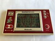 Nintendo Game And Watch Marioand039s Cement Factory New Wide Screen Ml-102