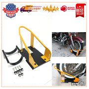 Motorcycle Wheel Chock Adjustable Stand Transport Tire Mount Trailer Truck Hot