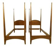 32795ec Pair Ethan Allen American Impressions Cherry Twin Beds