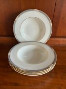 Lenox Presidential Collection Mckinley Rimmed Soup Bowl Set Of 4 - 3 Sets Avail