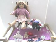 American Girl Doll-kit Wooden Rocking Chair And American Girl Clothes And Access