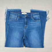 Caren Forbes Womenand039s Raw Hem Ankle Jeans Sz 27 W X 24 L High Rise Great Cond.