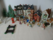 Dickens Collectables Holiday Expressions 1991 Porcelain Lighted Houses 26 Pieces