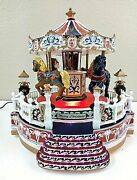 Christmas Lighted Musical Carousel East West Distributing Co. 2 Songs