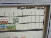 Vintage Kelloggand039s Cereal Magnashelf. Strategy/product Placement 1970s Very Rare