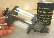 Powell Signal No. 5 Flat Glass Brass Oiler Old Gas Or Steam Engine Very Nice