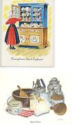 Vintage Butter Mold Press Print And Liver Dumpling Sausage Patty Recipe Note Card