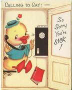 Vintage Telephone Phone Booth Yellow Duck Address Book Greeting Card Art Print