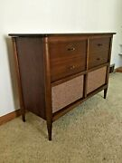 Vintage Record Player Stereo Am/fm Radio Philco Stereophonic Walnut Console.
