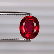 Natural Pigeon Blood Red Ruby 5.60 Ct Perfect Oval Cut Certified Loose Gemstone