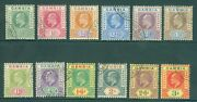 Sg 45-56 Gambia 1902-05. Andfrac12d To 3/- Set Of 12. Very Fine Used Cat Andpound375