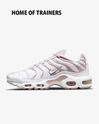 Nike Air Max Plus White Pink Oxford White Girls Womenand039s Trainer All Sizes