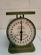 Vintage American Family Scale 1906 Model Green Zeros Out And Works