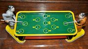 Vintage Tin Wind-up Pool Billiards Table With 2 Players Nice Shape Ranger Toys