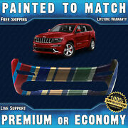 Painted To Match Front Bumper For 2014 2015 Jeep Grand Cherokee Srt8 W/park Asst