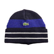 Lacoste Mens Beanie Rb2218-51-br7 Navy Blue/blue