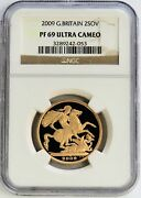 2009 Gold Great Britain 2 Pounds Sovereign Proof Coin Ngc Pf 69 Ultra Cameo