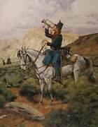 Don Troiani Recall -trumprter Second U.s. Dragoons Artistand039s Proof On Paper