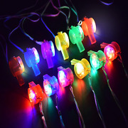 M.best Glow Whistles Bulk Party Supplies - Led Light Up Whistle With Lanyard Nec