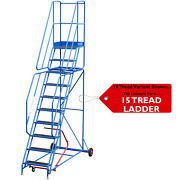 15 Tread Mobile Warehouse Stairs Anti Slip Steps 4.75m Portable Safety Ladder
