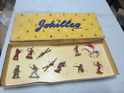11 Vintage Johillco Lead Cowboys And Indians Toy With Original Box