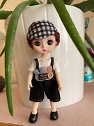 Vintage Beautiful New Girl Baby Doll Fashion 3d Eyes 16cm With Clothes Dress