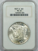 1927-d Peace Dollar - Ngc Ms-62 Old Fatty, Premium Quality