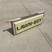 Vintage Lawn Boy Mower Advertising Sign Used Worn Double Sided Light Up