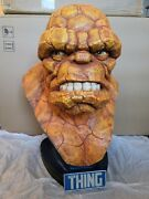 Sideshow The Thing Life Size 11 Scale Bust Statue Fantastic Four Avengers Hulk