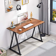 Greenforest Small Computer Desk 47 Inches Home Office Desk With Triangle Legs Si
