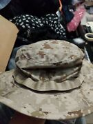Usmc Issue Woodland Marpat Camo Field Cover Boonie Hat With Ega Size Large