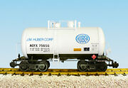 Usa Trains R15218 G J. M. Huber Corp. Beer Can Tank Car White