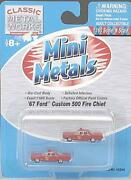 Classic Metal Works 50244 N Fire Dept And03967 Ford Custom 500 Fire Chief Pack Of 2
