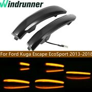 Led Dynamic Turn Signal Smoked Light For Ford Kuga Escape Ecosport 2013-2018