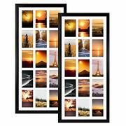 Mebrudy 2 Pack 4x6 Collage Picture Frames With 15 Openings, Multi Black Photo