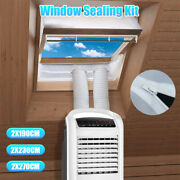 Window Seal Kit Portable Air Moblie Conditioner Universal Sealing Zip Hose Vent