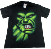 2003 Marvel The Incredible Hulk Delta Pro Weight Youth Size S 6-8 Black Shirt