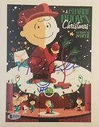 Robbins Signed With A Face On 8x10 Charlie Brown Christmas Photo Bas Coa Auto