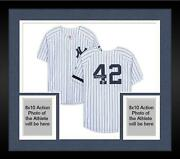 Frmd Mariano Rivera Yankees Signed White Authentic Jersey And Enter Sandman Insc