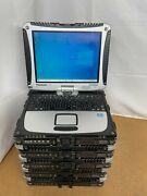 Lot 5 Panasonic Toughbook Cf-19 I5-3340m 2.70ghz 8gb 500gb 10touch Win10 Read