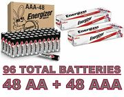 Energizer Alkaline Aa And Aaa Combo Pack 24+24 X 2 Max Battery Exp.12/2030