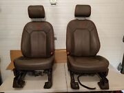 2015-2020 Ford F150 F250 F350 King Ranch Front Seats Leather Brown Massage Hvac