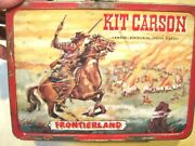 Official Disneyland Metal Lunch Box Kit Carson And Davy Crockett Usa No Thermos