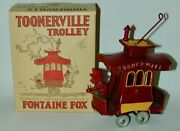 Toonerville Trolley Cast Iron Toy Dent Hardware Minty Condition In Original Box