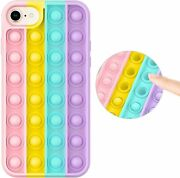 Fidget Toys Phone Case For Iphone 8/7/6/6s/se Press Bubble Silicone Protective