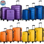 3 Piece Expandable Carry On Hardside Spinner Rolling Luggage Travel Set Wheeled