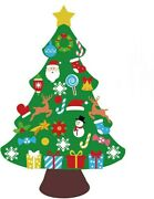 3d Diy Felt Christmas Tree 33 Ornaments With Gold Star Topper Kids Decorations